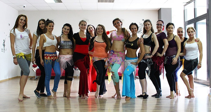 Nevena teaching @ Summer Bellydance Camp by The Land of Roses in Sofia, Bulgaria, 2016