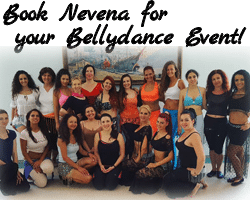 Book bellydance artist from Bulgaria Nevena Tacheva for your belly dance event - Request a show, master classes, seminar or workshops