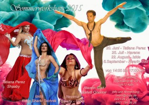 Summer workshops for oriental belly dance 2015 with Nevena in Cologne, Germany