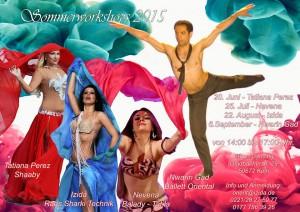 Summer workshops for oriental belly dance 2015 Cologne, Germany